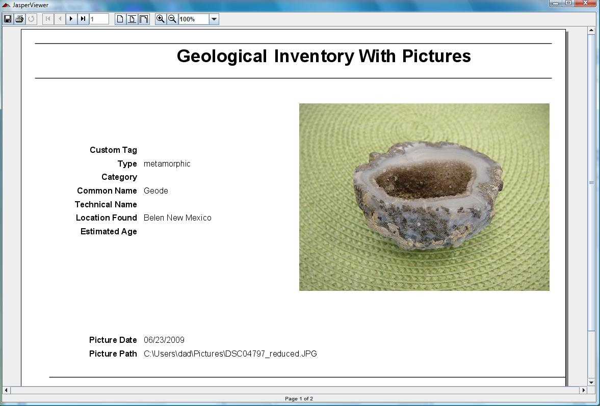 Gem Collecting pictures - also used for geological rocks and fossils